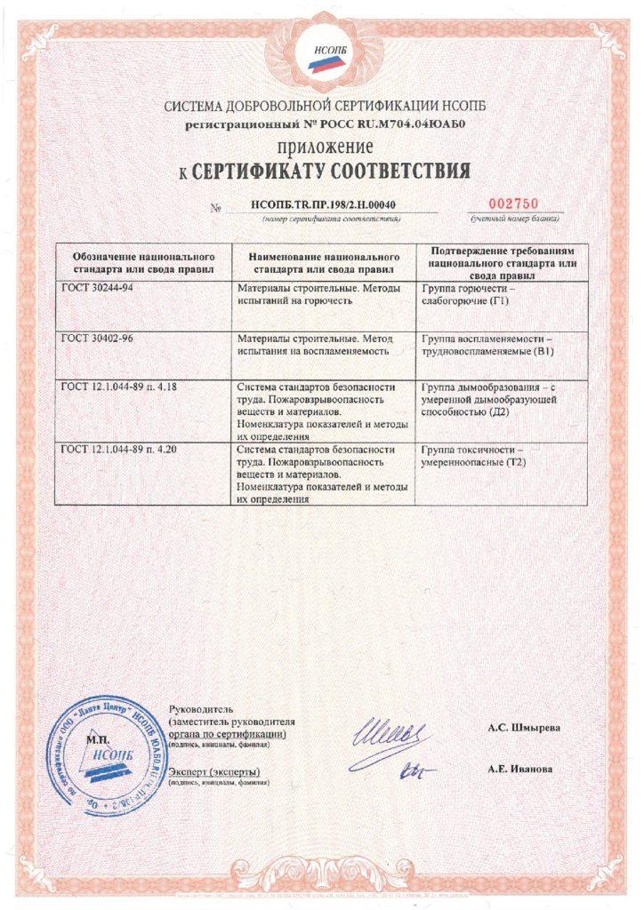 Сертификат приложение